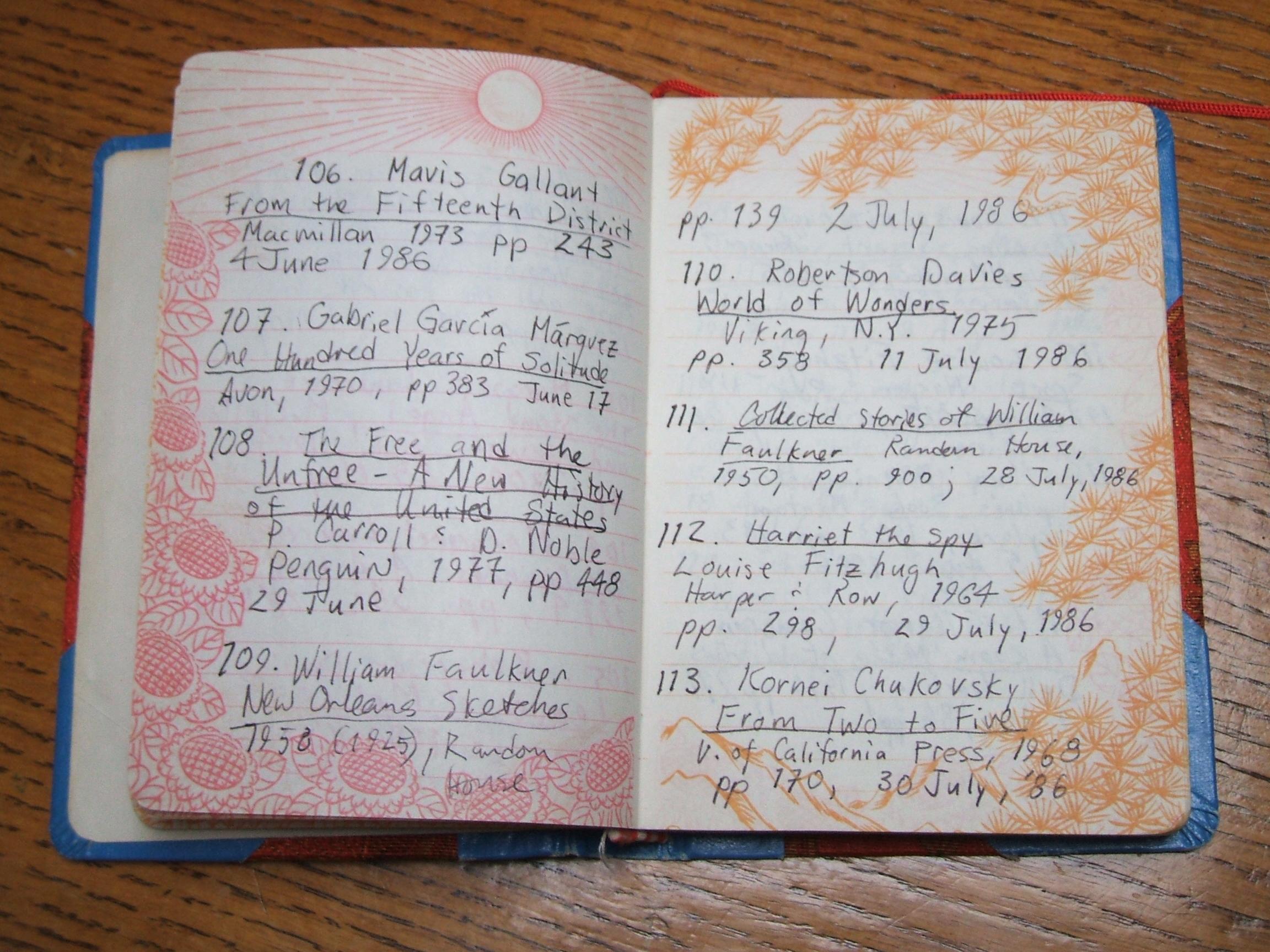 Reading Log 106-113 | Caroline Adderson Ellen Page