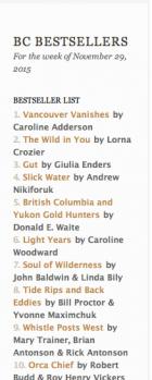 BC bestseller list